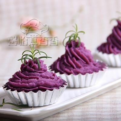 节后清肠养生点心---奶香紫薯泥