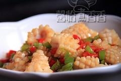 零厨艺也能轻松做的下饭菜----蚝油鱿鱼花