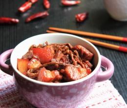 拥有独特魅力的干菜-----红烧肉烧干豆角