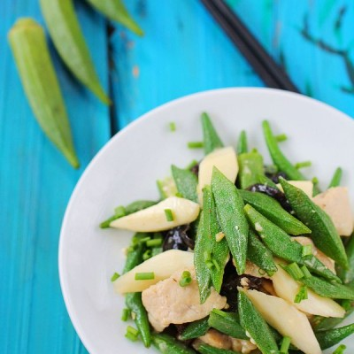 用黄秋葵打造一盘祛除秋燥的美味小炒