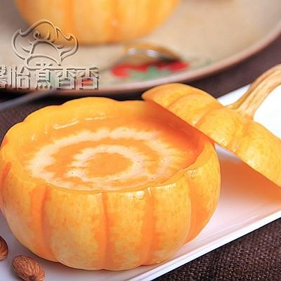 秋末冬初的养生羹----奶香南瓜浓汤
