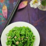 原来南瓜藤是秋季不可错过的美味---清爽的肉末爆炒南瓜藤