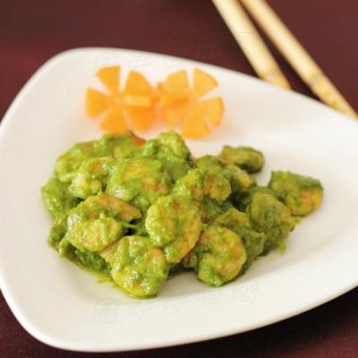 虾仁的西式风味吃法——【青酱虾仁】