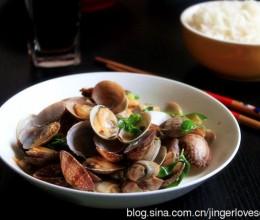 最鲜甜的味道-----罗勒炒花蛤