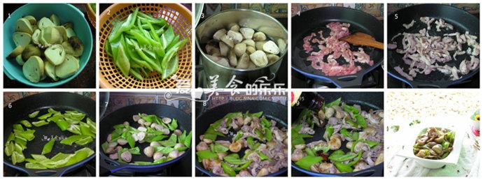 杭椒草菇炒肉---了解食材的中医属性搭配出健康美味