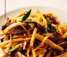如何炒出鲜嫩可口的牛肉——酸笋炒牛肉