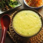 小米粥香飘四溢的熬法和麻油小菜