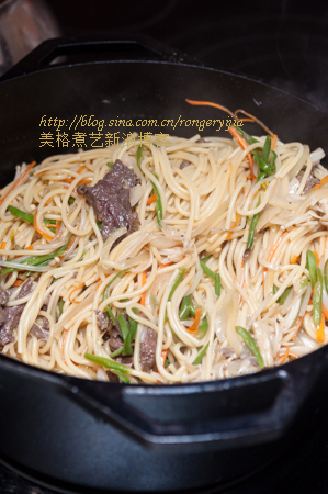 牛肉炒面让中国遭遇意大利 Fried Beef Noodles