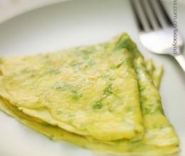 如此简单,如此美味——边角料变身美味芹菜叶蛋饼