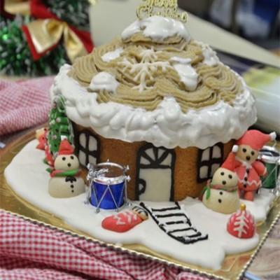 【奶油栗子蛋糕】给传统栗子蛋糕换个可爱造型