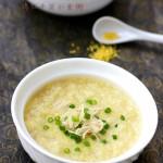 健胃补虚的养生杂粮粥:鸡丝干贝小米粥