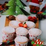 草根蛋糕的圣誕風---香橙海綿杯子蛋糕
