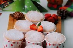 草根蛋糕的圣诞风---香橙海绵杯子蛋糕