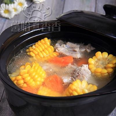 冬日里的美容暖身汤----玉米龙骨汤