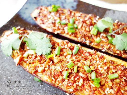 夜市大排档菜谱-蒜蓉烤茄子