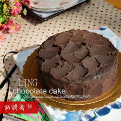 #百家千宴#幸福烘焙:低调奢华的土豪巧克力蛋糕