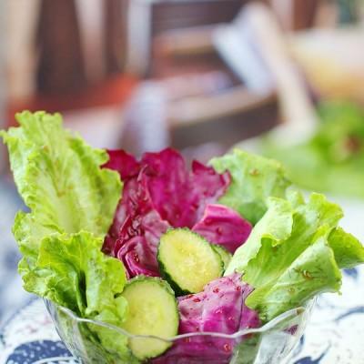 #百家千宴#新年家宴上爽口的油醋汁蔬菜沙拉