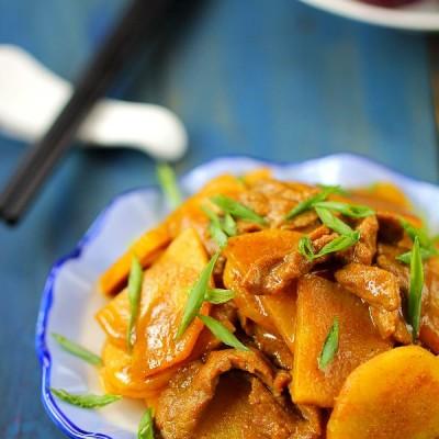 #百家千宴#没人能抵挡的了咖喱土豆炒牛肉片的诱惑