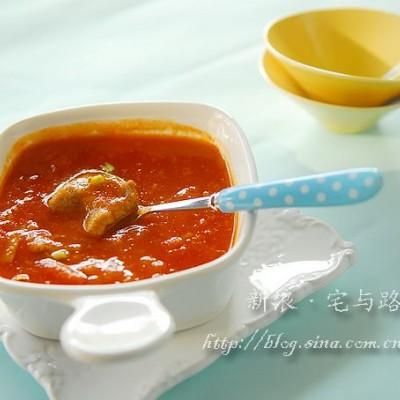 西餐-番茄浓汤滑牛肉