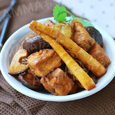 #百家千宴#如何把素菜炒出肉味儿来——素烧四样儿