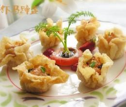 """#百家千宴#广东""""花开富贵---鲜虾马蹄盏"""""""