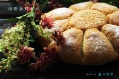 试用团:盛开在小麦上的花----玛格丽特面包