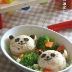 懒妈妈也会做的宝贝餐【熊猫饭团】