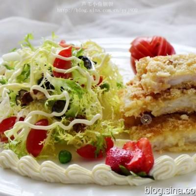 在家做高大上的西式菜肴:龙利鱼扒配果蔬沙拉
