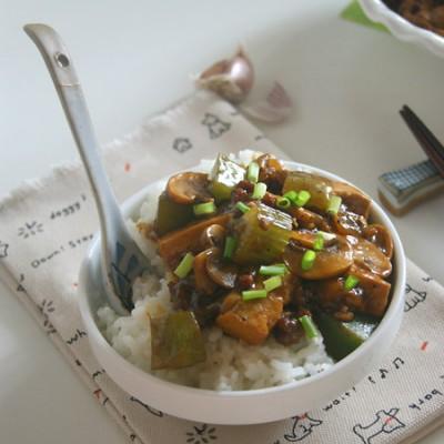 比肉还好吃的素味下饭菜【口蘑豆腐饭】