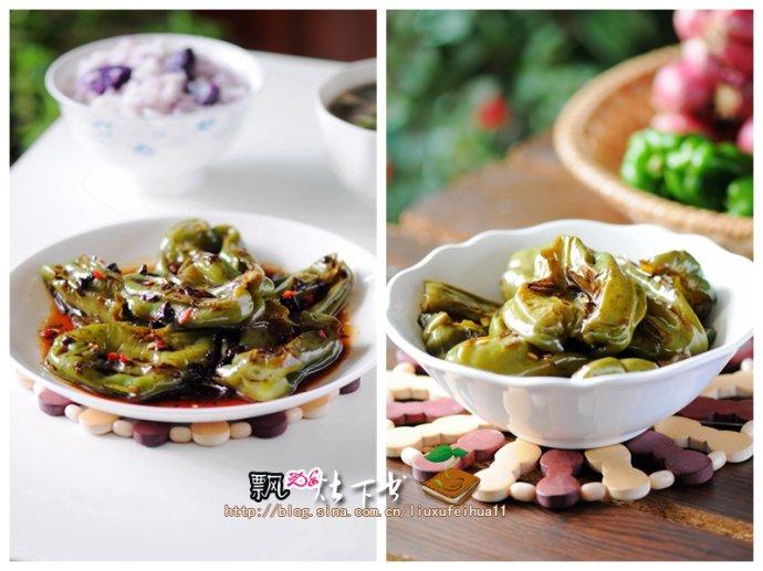 六个辣椒一盘下饭菜----省油版豉香虎皮辣椒&糖醋辣椒瘪