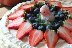 萌系小羊草莓奶油蛋糕