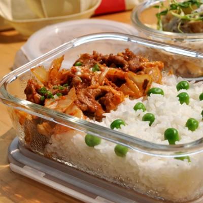 开胃便当菜-韩式泡菜炒梅花肉