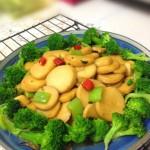 素菜也可以吃出肉的滋味儿【杏鲍菇扣西兰花】