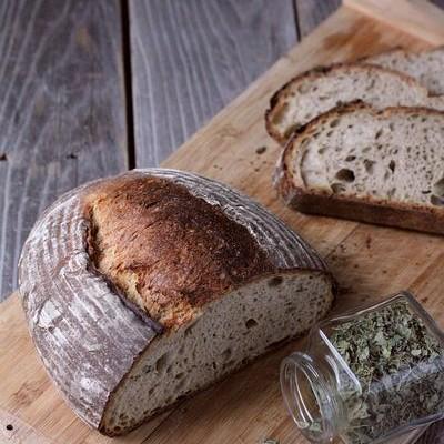 黑麦天然酵种葫芦巴欧包-食疗