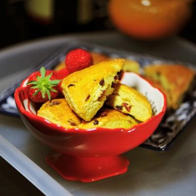 #春天烘焙季#蔓越莓玉米司康----给英式下午茶点加点儿粗粮