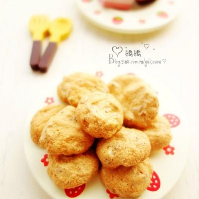 #春天烘焙季#不含油的松脆小饼【蛋白核桃脆】