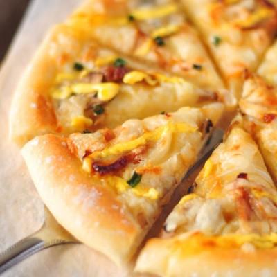 #春天烘焙季#照烧鸡肉皮萨——自制照烧皮萨酱的无限诱惑
