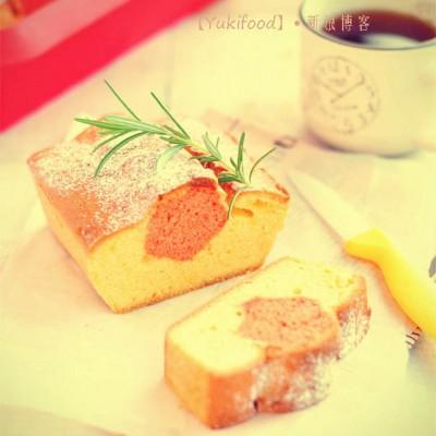 #春天烘焙季#红丝绒磅蛋糕——花朵夹心温馨母亲节(晒奖)