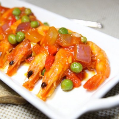 #美食感恩季#【茄汁海蝦】吮指回味時~~~