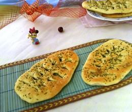 #美食感恩季#+迷迭香叶形烤饼