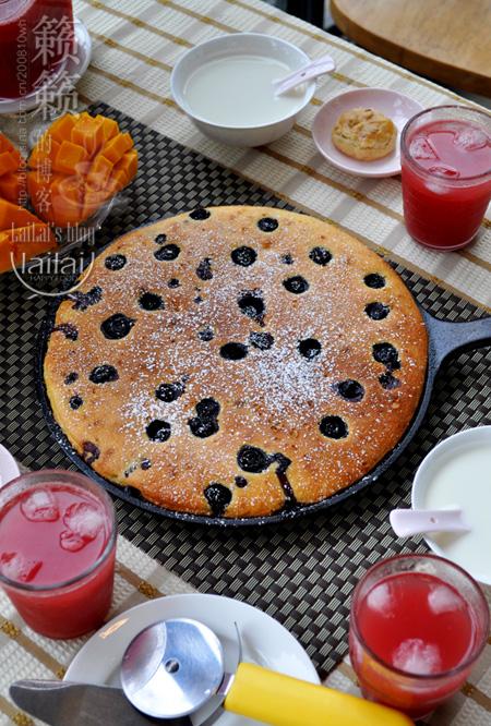 【酸奶藍莓餡餅】?風味迷人的快手早餐餅!