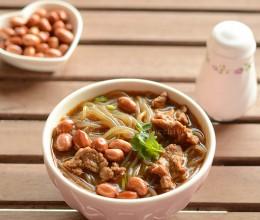在家也能做出超好吃的牛肉酸辣粉(附油炸花生米做法)