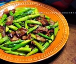 培根炒芦笋----伏天最受欢迎快手家常菜