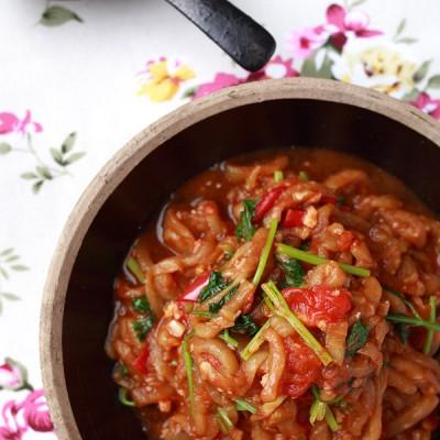 软烂美味的超级下饭菜《西红柿烩茄丝》《厨房小混子》六十五