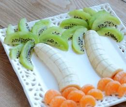切切水果,变身椰树果盘