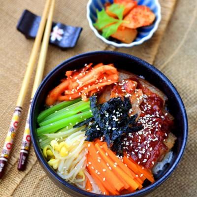 菜鸟学做韩式料理:懒人版五花肉石锅拌饭