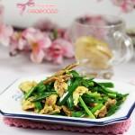 鲜美极致的国民家常菜---贝尖鸡蛋炒韭菜