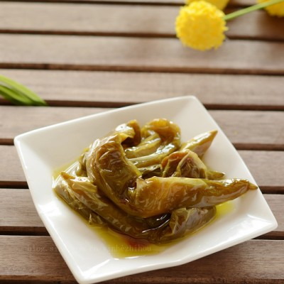 佐粥拌饭的秘制开胃小菜——翡翠尖椒