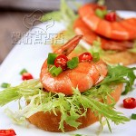 味觉与视觉的双重享受----鲜虾面包塔