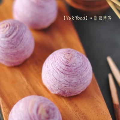 月圆中秋手作丝丝入情的味浓月饼——紫薯螺旋酥月饼
